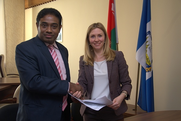 PSU, AIC Finance director, Dr. Dharangan Bakthaseelan, First Vice-Rector Dr. Svetlana Vegera